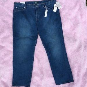 Lauren Ralph Lauren  Premier Straight Jeans 22W
